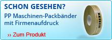 PP Maschinen-Packbänder mit Firmenaufdruck