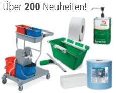 Über 200 Neuheiten im Bereich Hygiene und Arbeitsschutz.