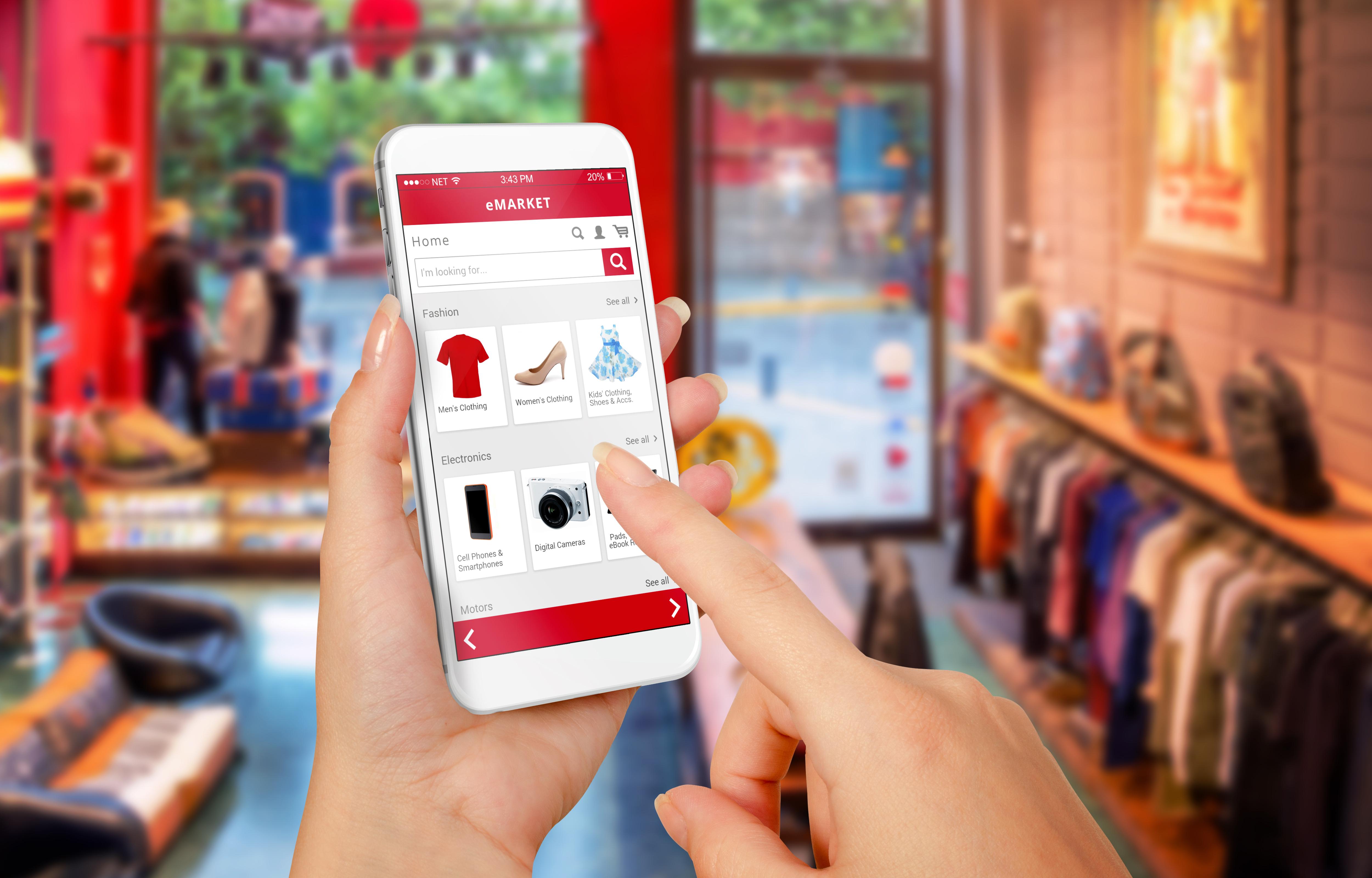 Mobiles Shoppen