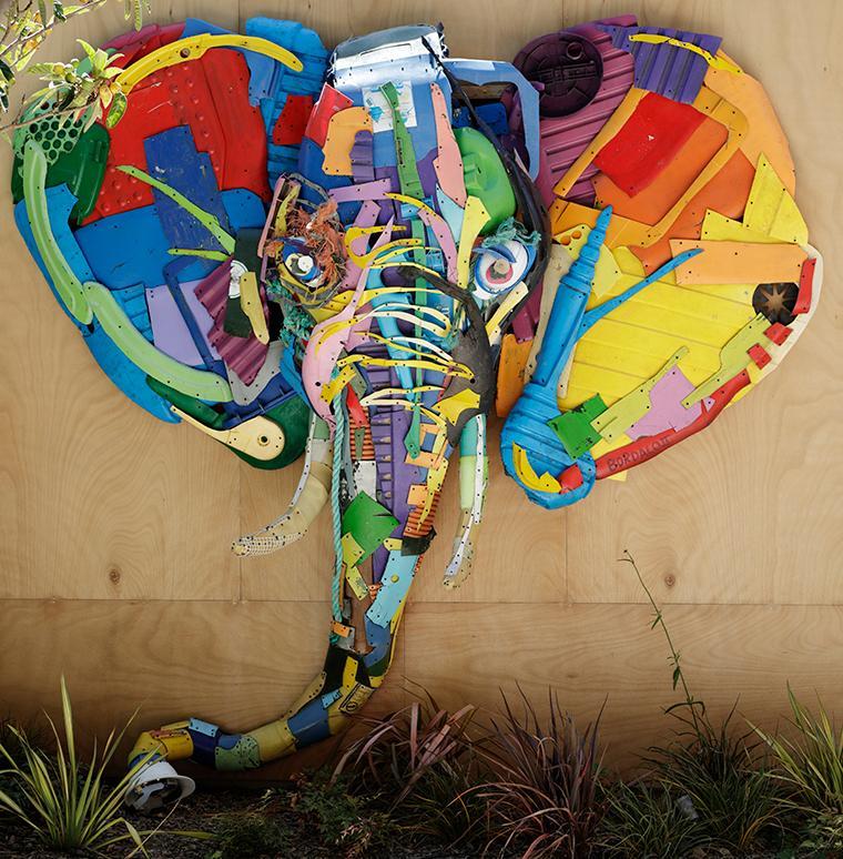 Elephant Kunst aus Plastik